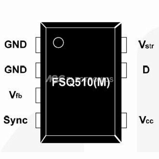 FSQ510DIP7 - FSQ510 DIP7  INTEGRATO