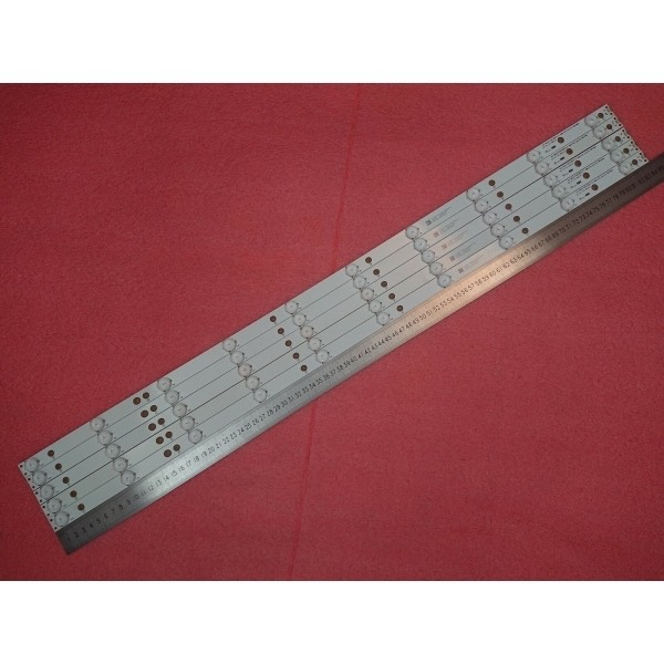 KIT 5 BARRE STRIP LED TV PHILIPS 43PFS GJ-2K15-430-D510 GJ-2K16-430-D510-V4