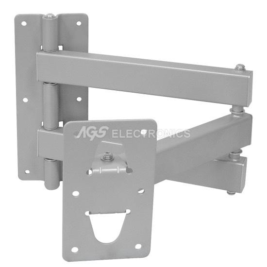 Supporto da muro per LCD fino a 80Kg con 3 Snodi colore Grigio SUPP-H1034