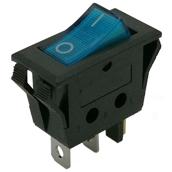 Interruttore unipolare con luce blu 16A/250V INT-096