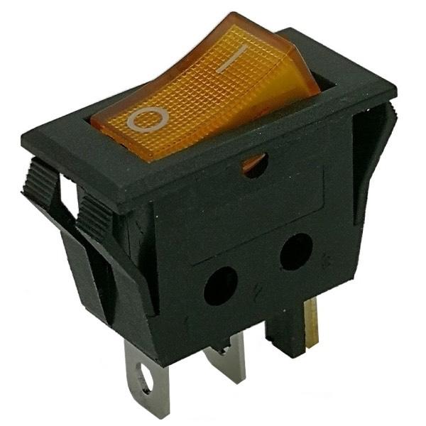 Interruttore unipolare con luce gialla 16A/250V INT-096