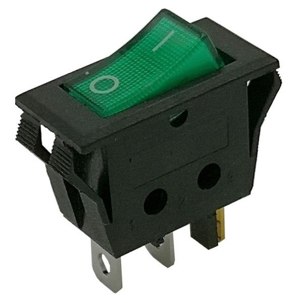 Interruttore unipolare con luce verde 16A/250V INT-096