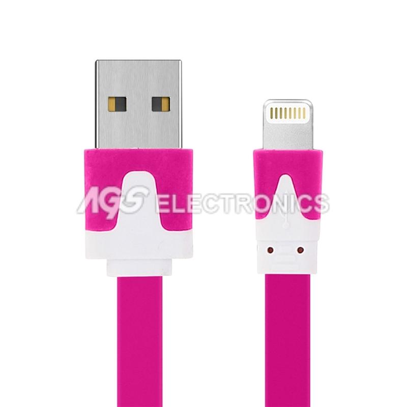 CAVO DATI ROSA USB SYNC CARICA LIGHTNING per IPHONE 5 5S 5C 6 6 Plus IPAD 4