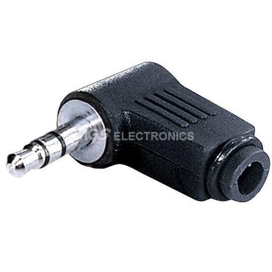 SPINA , SPINOTTO , PLUG 3.5mm STEREO AD ANGOLO 90° JC-023