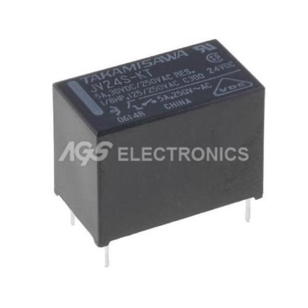 JV24SKT - JV-24S-KT Rele elettromagnetico SPST-NO 24VDC 5A/250