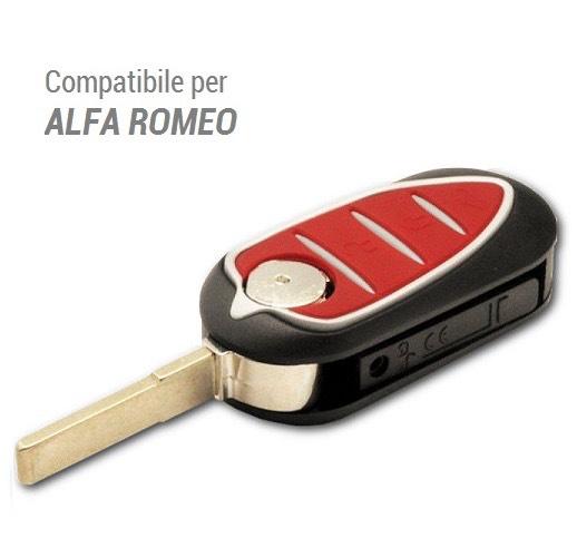 GUSCIO CHIAVE AUTO PER TELECOMANDO 3 TASTI PER ALFA ROMEO MITO GIULIETTA GTO