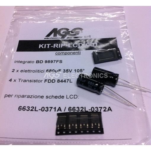 6632L-0371A / 6632L-0372A  Kit riparazione 1xBD9897FS  4xFDD8447L 2x680UF 35V