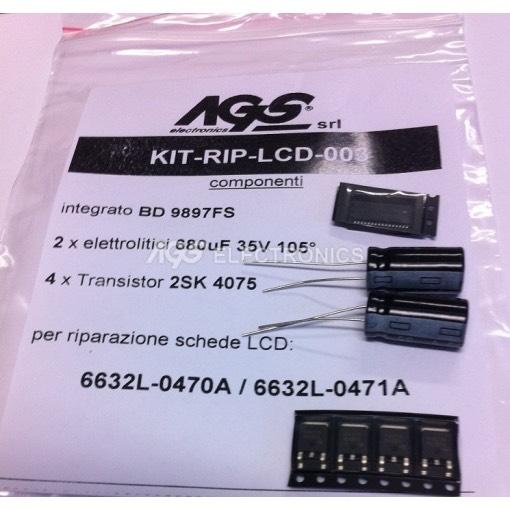 6632L-0470A / 6632L-0471A Kit riparazione  BD9897FS 4 x 2SK4075 2 x 680UF 35V