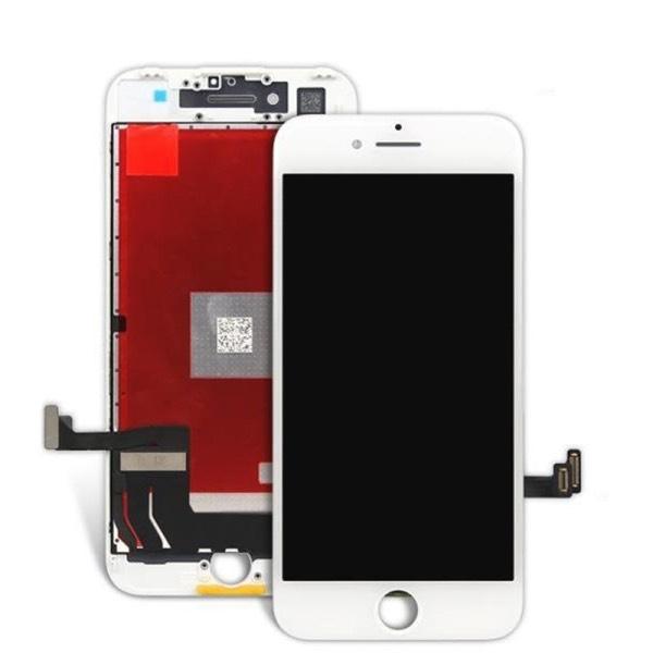 TOUCH SCREEN LCD RETINA DISPLAY FRAME PER APPLE IPHONE 7 BIANCO VETRO SCHERMO