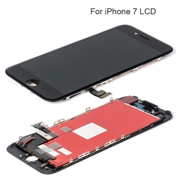 TOUCH SCREEN LCD RETINA DISPLAY FRAME PER APPLE IPHONE 7 NERO VETRO SCHERMO