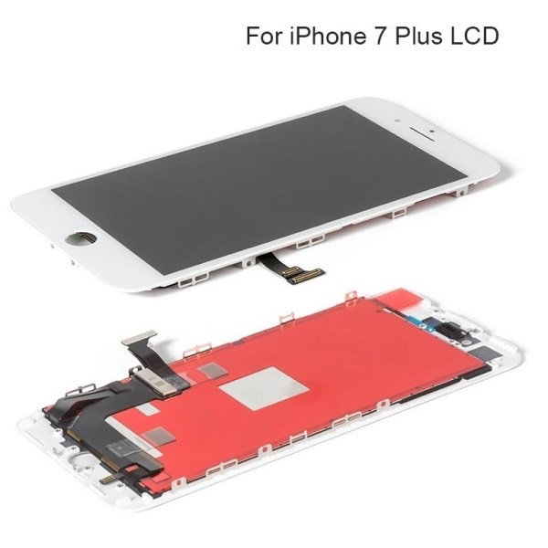 TOUCH SCREEN LCD RETINA DISPLAY FRAME PER APPLE IPHONE 7 PLUS NERO VETRO SCHERMO