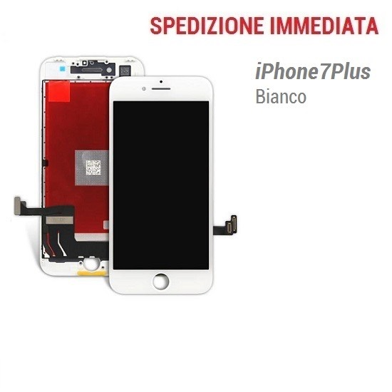 TOUCH SCREEN LCD DISPLAY RETINA PER IPHONE 7 PLUS VETRO SCHERMO BIANCO