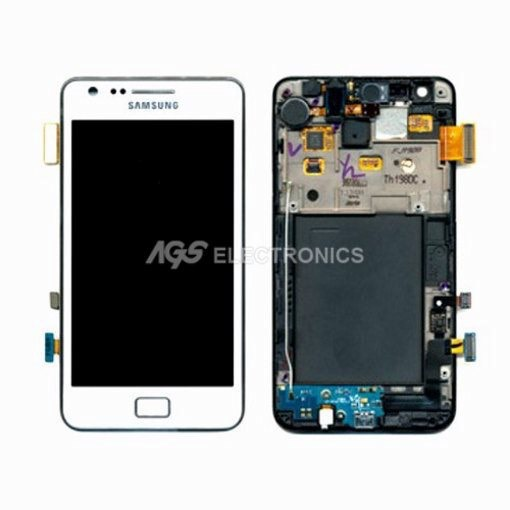 LCD  Touch screen originale Samsung I9100 Colore Bianco GH97-12175A