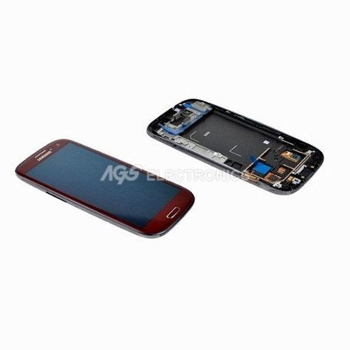 LCD  Touch screen originale Samsung S3 GT-I9300 Rosso GH97-13630C