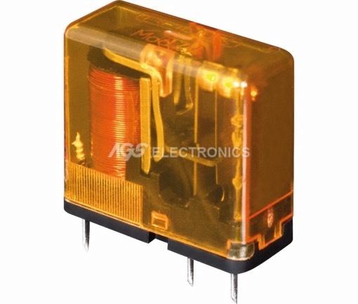 Relè miniatura 1,5Vcc 1Cto. 6A 29.0x25.0x12.4mm