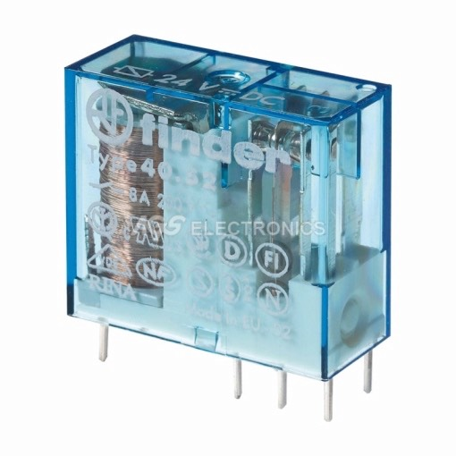 Rele miniatura FINDER 250Vca 2 contatti 6pin 8A 29x25x12,4mm bobina 12Vca RL-140