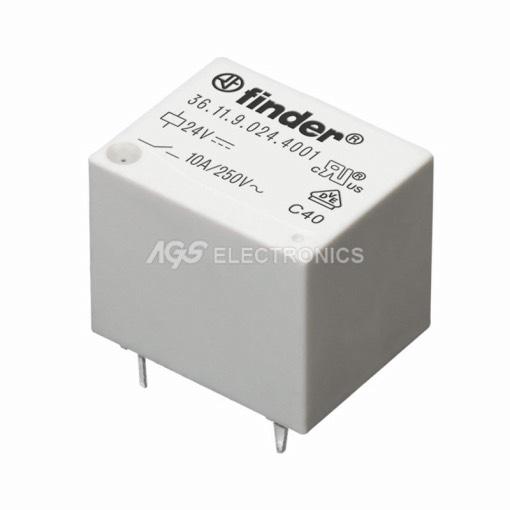 mini rele FINDER ,  1 contatto  12V 10A 19x16x15.5mm RL-199 RL199