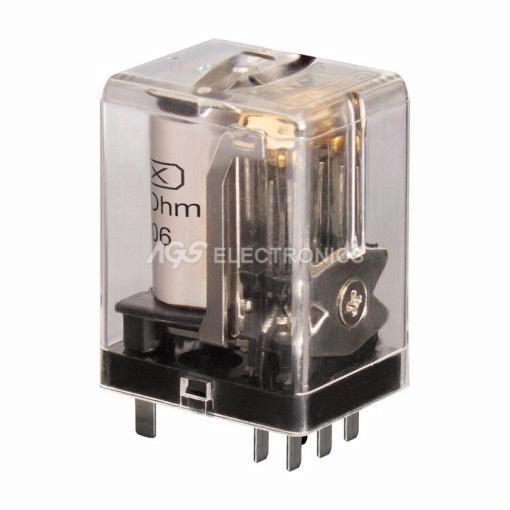 Relè industriale 24Vcc 2Ctos 1A 23.0x30.0x19.5mm