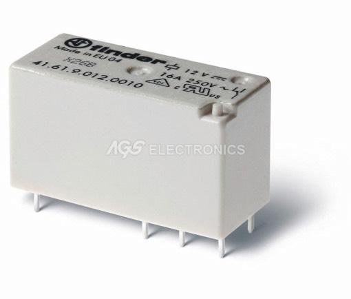 Relè miniatura serie H commutato 12vcc 1cto 6pin 29x15.7x12.5mm