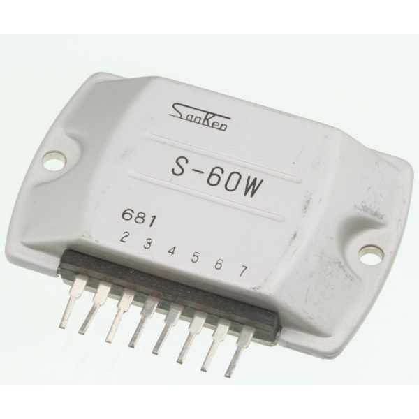 S60W - S-60W Power Amplifier Sanken 8-pin