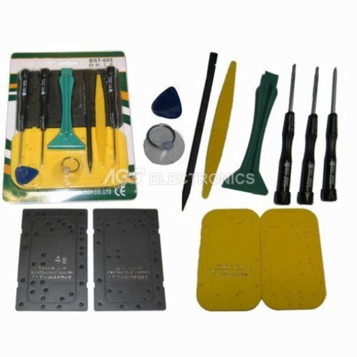 Tool kit con salvaviti per RIPARAZIONE iPhone 3G , 3GS , 4G , 4S TOOL-BST605