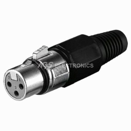 Connettore Presa Jack per microfono 3 pin colore NERO XLR-028
